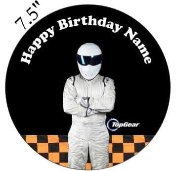 Top Gear (The Stig) Edible - Pre Cut Personalised Icing Topper