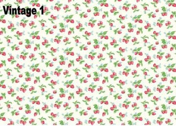 Vintage Floral Shabby Chic Edible A4 Icing Sheets for Cake Board/Decorations