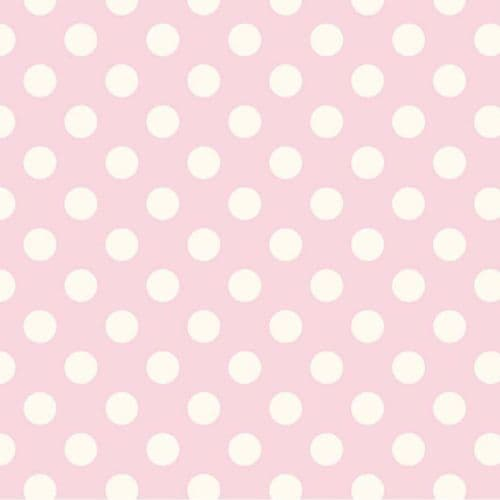 Riley Blake - Dots (Baby Pink/Antique) - Pink / White Cotton Patchwork Fabric