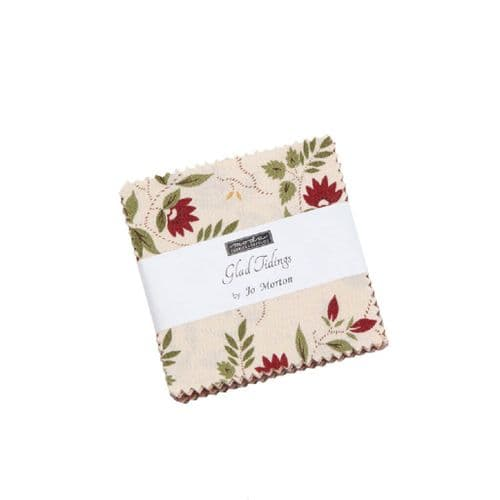 "Moda Mini Charm Pack - Glad Tidings- 42 x 2.5"" squares"