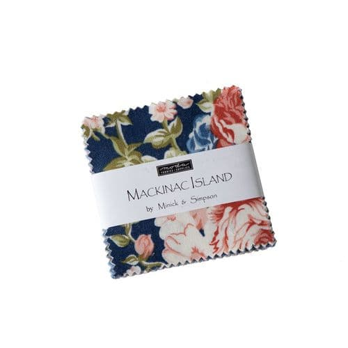 "Moda Mini Charm Pack - Mackinac Island- 42 x 2.5"" squares"