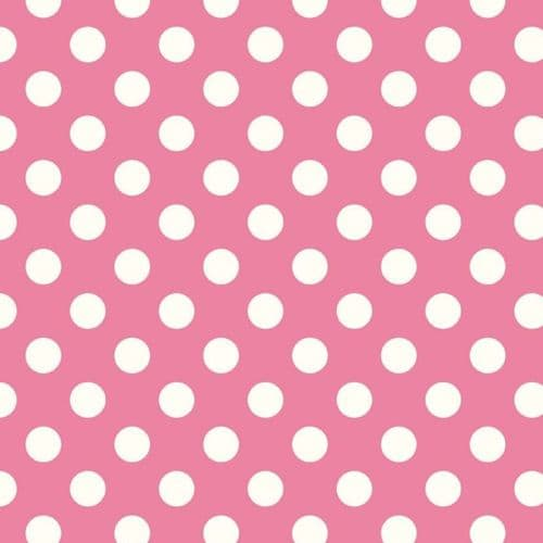 Riley Blake - Dots (Hot Pink/Antique) - Pink / White Cotton Patchwork Fabric