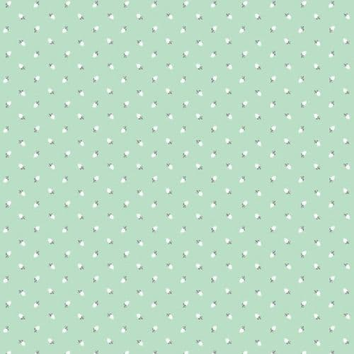 Riley Blake - Sew Charming, Rosebuds - Mint Cotton Patchwork Fabric