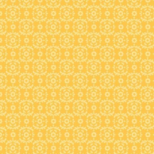 Riley Blake - Summer Song 2, Damask - Yellow Cotton Quilting Fabric
