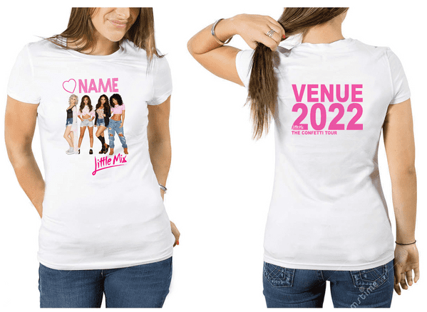 Little Mix Personalised TOUR T-shirt