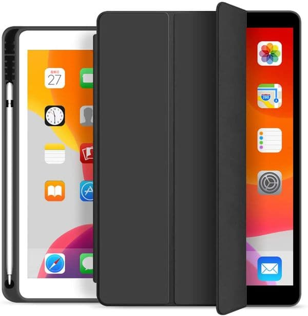 iPad 10.2 Smart Case Cover with Pencil Holder