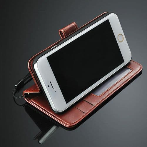 iPhone 4 4S Leather Wallet Stand Case Cover