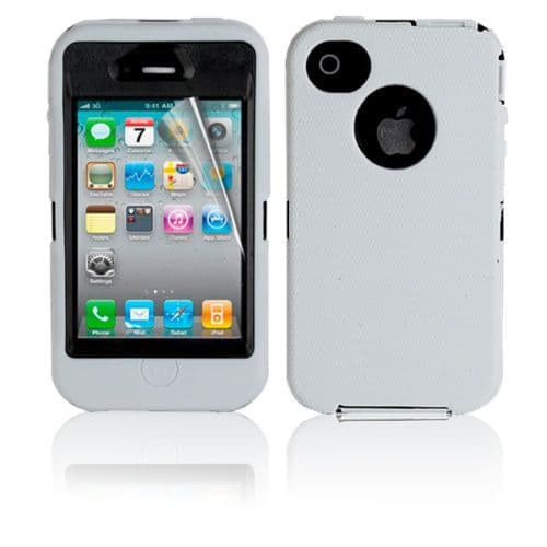 iPhone 4 / 4S Rugged Defender Tough Shockproof Case Cover