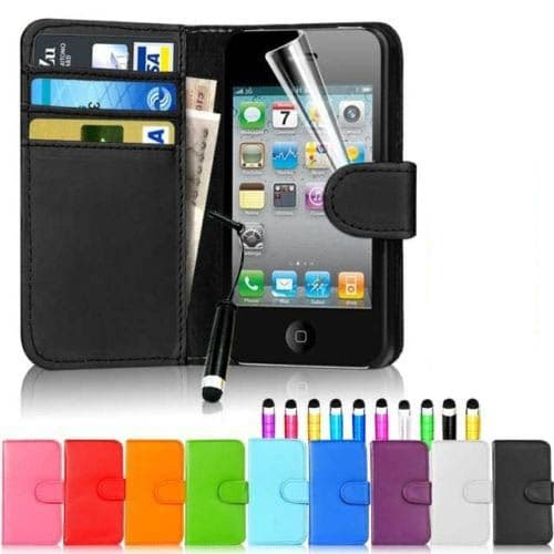 iPhone 4 / 4S Wallet Folio Case Cover