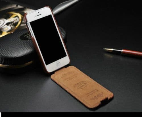 iPhone 7 Leather Flip Case Cover