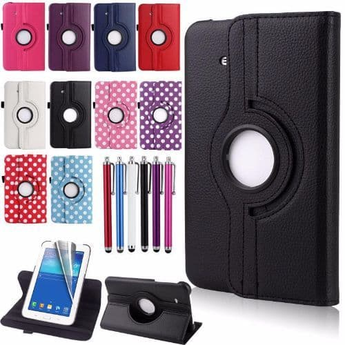 Samsung Galaxy Tab 3 7 Lite 360 Swivel Stand Case Cover