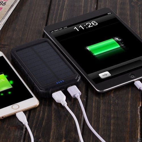 Solar Power Bank Pack Portable USB Battery Charger for Phones or Tablets