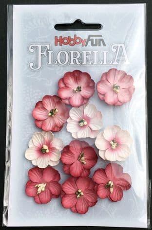 10 Handmade Mulberry Paper Flowers hydrangea Hobbyfun Florella 3866042