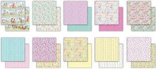 "10 Sheets Cottage Garden 6""x6"" Premium Paper Craft Consortium"