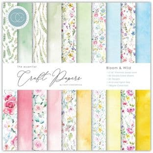 "10 sheets of Wild & Bloom 6""x6"" Essential Craft Paper Craft Consortium"