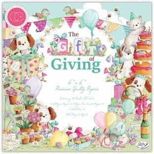 "10 Sheets The Gift of Giving 6""x6"" Premium Paper Craft Consortium"