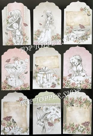 12 Tags from the Everlasting Memories Tag Pad Hunkydory