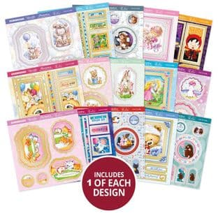 15 Pop-a-Topper Sheets - Cute & Cuddly Hunkydory Foiled Die Cut Card Toppers