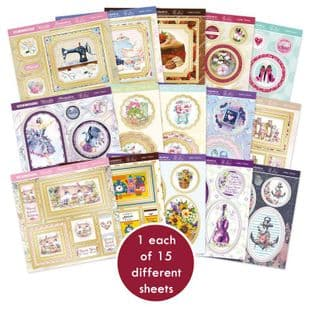 15 Pop-a-Topper Sheets  - Ladies Choice Hunkydory Foiled Die Cut Card Toppers