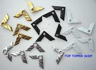 20 PHOTO CORNERS NEUTRAL QUICKLETS EYELETS