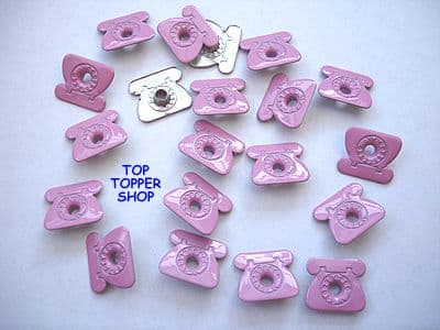 20 PINK TELEPHONE QUICKLETS EYELETS