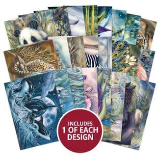 24 sheets from The Little Book of Animal Kingdom A6 Hunkydory Card Toppers