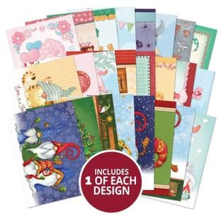 24 Sheets from The Little Book of Gnomes A6 Hunkydory Card Toppers