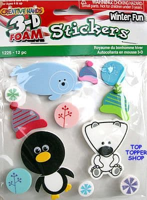 3d CREATIVE HANDS FOAM STICKERS - WINTER FUN