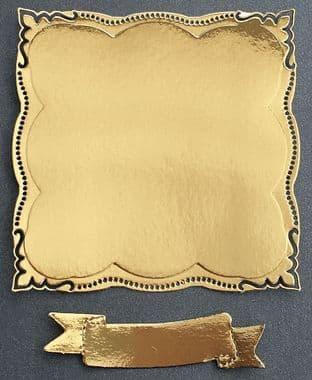 4  Die Cut Elegant  Frames Gold Mirri Card