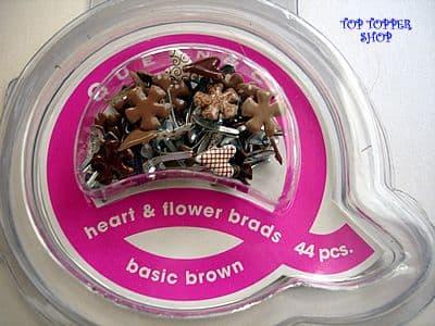 44 HEART & FLOWER BRADS BASIC BROWN QUEEN & CO