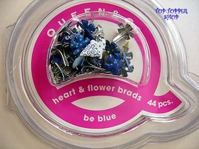 44 HEART & FLOWER BRADS BE BLUE QUEEN & CO