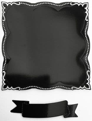 6  Die Cut Elegant  Frames Black Mirri Card
