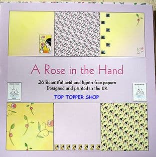 6X6 DESIGN HOUSE PAPER PACK A ROSE IN THE HAND