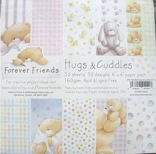 6X6 FOREVER FRIENDS HUGS & CUDDLES PAPER PACK