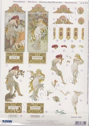83755 MOCHA DIE CUT REDDY DECOUPAGE CARD KIT