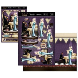 A Decadent Evening - The Golden Age of Glamour Hunkydory Die Cut Decoupage Kit