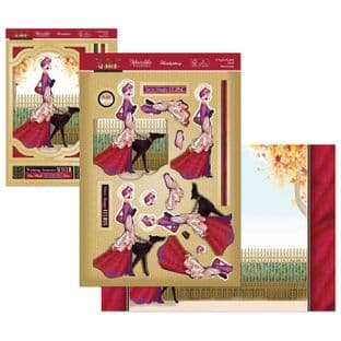 A Sophisticated Stroll - The Golden Age of Glamour Hunkydory Die Cut Decoupage Kit
