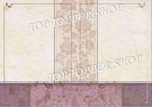 A4 Foiled Card Floral Tapestry Frame Wine Kanban CRD1357