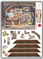 A5 DIE CUT CHRISTMAS FRAMIN' CARDS - SANTA'S WORKSHOP from LA PASHE