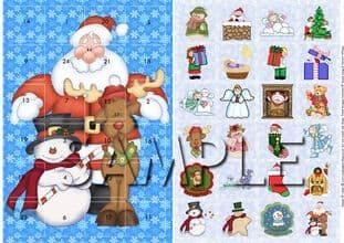 ADVENT CARD cute christmas digital download