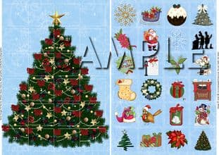 ADVENT CARD traditional christmas digital download