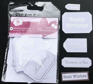 All Occasion Sentiment Tags 36 pieces Docrafts Papermania 157000
