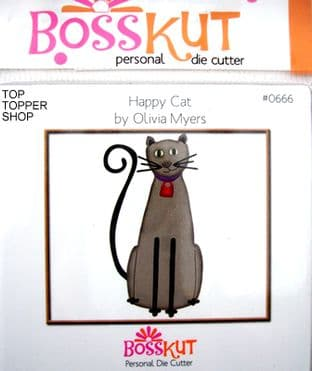 ANIMAL BOSSKUT DIE - HAPPY CAT 0666
