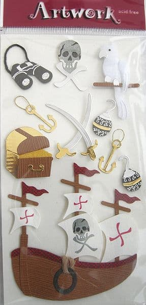 ARTOZ 3D HANDMADE STICKERS  PIRATE ACCESSORIES 18558020