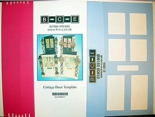 B-C-E COTTAGE DOOR Card Making Template