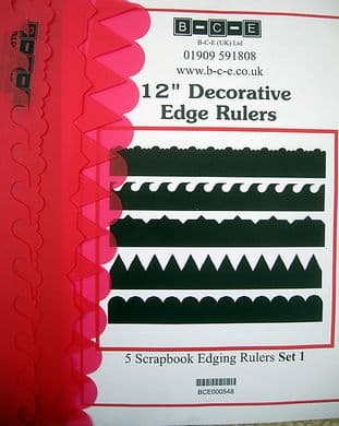 B-C-E DECORATIVE EDGE RULERS SET 1 Card Making Template