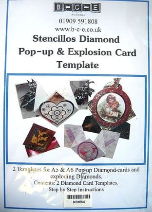 B-C-E DIAMOND POP-UP & EXPLOSION CARD Card Making Template