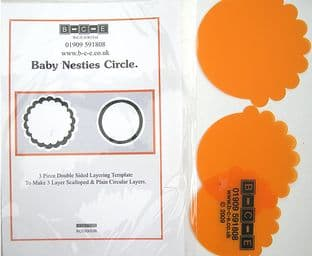 B-C-E NESTIES BABY CIRCLE Card Making Template