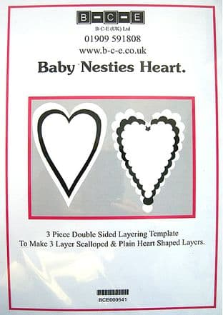B-C-E NESTIES BABY HEART Card Making Template