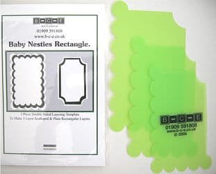 B-C-E NESTIES BABY RECTANGLE Card Making Template